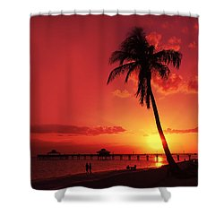 Romantic Sunset Shower Curtain by Melanie Viola