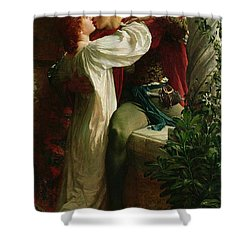 Romeo And Juliet Shower Curtain by Sir Frank Dicksee