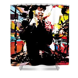 Ron Mick Charlie Keith Shower Curtain by Kevin Newton