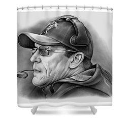 Ron Rivera Shower Curtain by Greg Joens