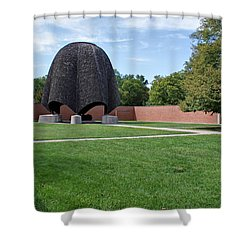 Roofless Church Shower Curtain by Sandy Keeton