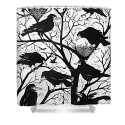 Rooks Shower Curtain by Nat Morley