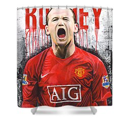 Rooney Shower Curtain by Jeff Gomez