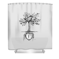Roots Of The Heart Shower Curtain by Karen Sirard