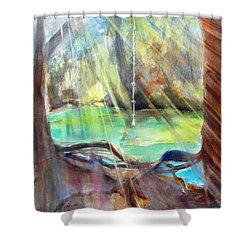 Rope Swing Shower Curtain by Carlin Blahnik