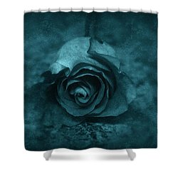 Rose - Green Shower Curtain by Angie Tirado