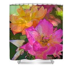 Rose 114 Shower Curtain by Pamela Cooper