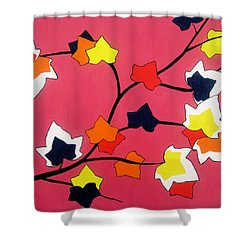 Rose Coloured Glow Shower Curtain by Oliver Johnston