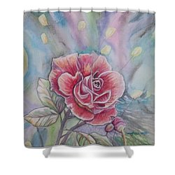 Rose Shower Curtain by Laura Laughren