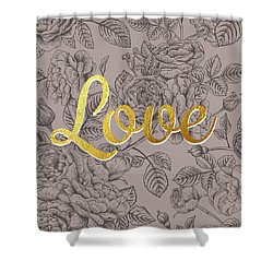 Roses For Love Shower Curtain by Bekare Creative