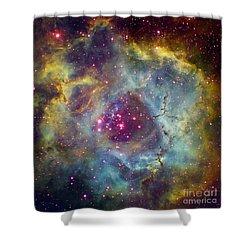 Rosette Nebula Ngc 2244 In Monoceros Shower Curtain by Filipe Alves