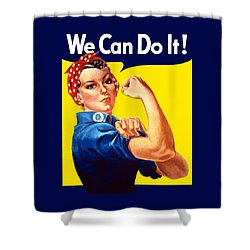 Rosie The Rivetor Shower Curtain by War Is Hell Store