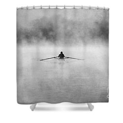 Rowing On The Chattahoochee Shower Curtain by Darren Fisher