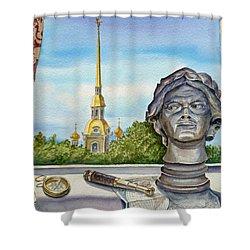 Russia Saint Petersburg Shower Curtain by Irina Sztukowski