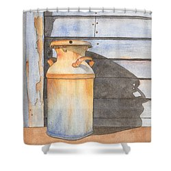 Rusty Milk Shower Curtain by Ken Powers