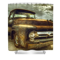 Rusty Truck Shower Curtain by Mal Bray