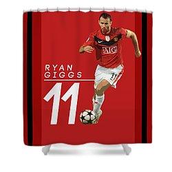 Ryan Giggs Shower Curtain by Semih Yurdabak