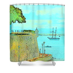 Sail On Shower Curtain by Tito Santiago