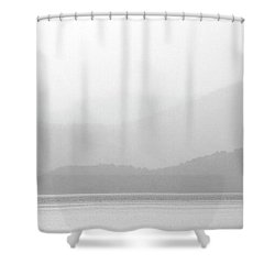 Sailboat On New Zealands Cook Strait Shower Curtain by Mark Duffy