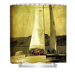 Sailing Away Shower Curtain by Susanne Van Hulst