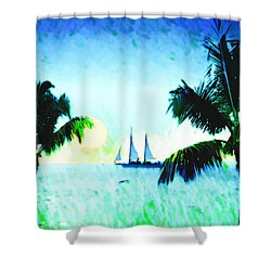 Sailing The Keys Shower Curtain by Bill Cannon