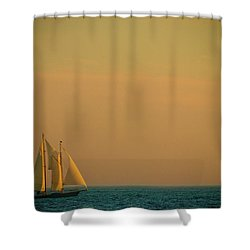 Sails Shower Curtain by Sebastian Musial