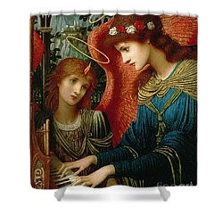 Saint Cecilia Shower Curtain by John Melhuish Strukdwic