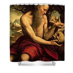 Saint Jerome Shower Curtain by Cesare de Sesto