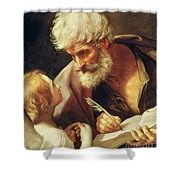 Saint Matthew Shower Curtain by Guido Reni