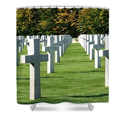 Shower Curtain featuring the photograph Saint Mihiel American Cemetery by Travel Pics