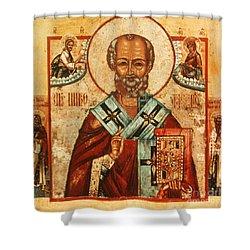 Saint Nicholas Shower Curtain by Granger