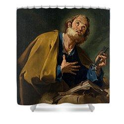 Saint Peter Shower Curtain by Giovanni Battista Pittoni