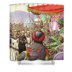 Saladin Orders The Execution Of Knights Templars And Hospitallers  Shower Curtain by Pat Nicolle