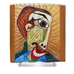 Salesman Of The Year Shower Curtain by Sarah Loft