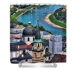 Salzburg Austria Europe Shower Curtain by Sabine Jacobs