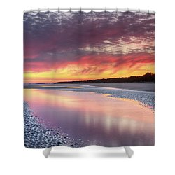 Same Night Six Fifteen Shower Curtain by Phill Doherty