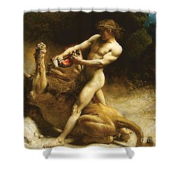 Samson's Youth Shower Curtain by Leon Joseph Florentin Bonnat