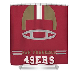 San Francisco 49ers Vintage Art Shower Curtain by Joe Hamilton