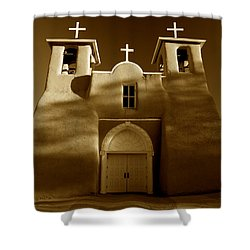 San Francisco De Asis 1772 Shower Curtain by Sean Cupp