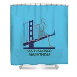 San Francisco Marathon2 Shower Curtain by Joe Hamilton