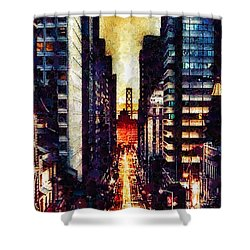 San Francisco Shower Curtain by Mo T