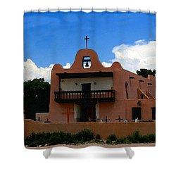 San Ildefonso Pueblo Shower Curtain by David Lee Thompson