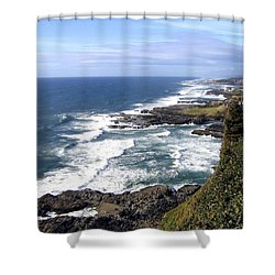 Sand And Sea 2 Shower Curtain by Will Borden
