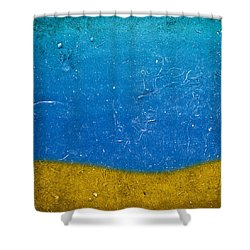 Shower Curtain featuring the painting Sand And Sea by Frank Tschakert