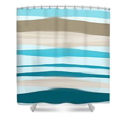 Shower Curtain featuring the painting Sandbanks by Frank Tschakert