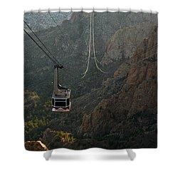 Sandia Peak Cable Car Shower Curtain by Joe Kozlowski