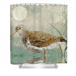 Sandpiper II Shower Curtain by Mindy Sommers