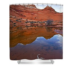 Sandstone Pools Shower Curtain by Mike  Dawson