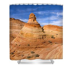 Sandstone Tent Rock Shower Curtain by Mike  Dawson