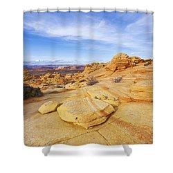 Sandstone Wonders Shower Curtain by Chad Dutson